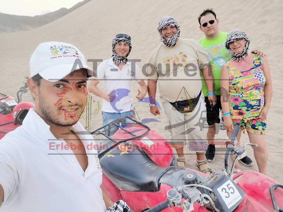 Wüstensafari Quad Ausflug in Hurghada zur Oase mit Zwischenstop im Benduinendorf